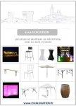 Location De Table Et Chaises ERICKLOCATION