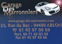 GARAGE DES MARRONNIERS